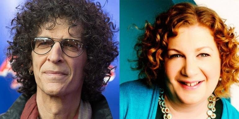 Alison Berns with Howard Stern