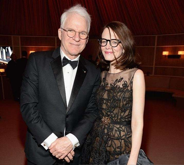 Anne Stringfield with Steve Martin