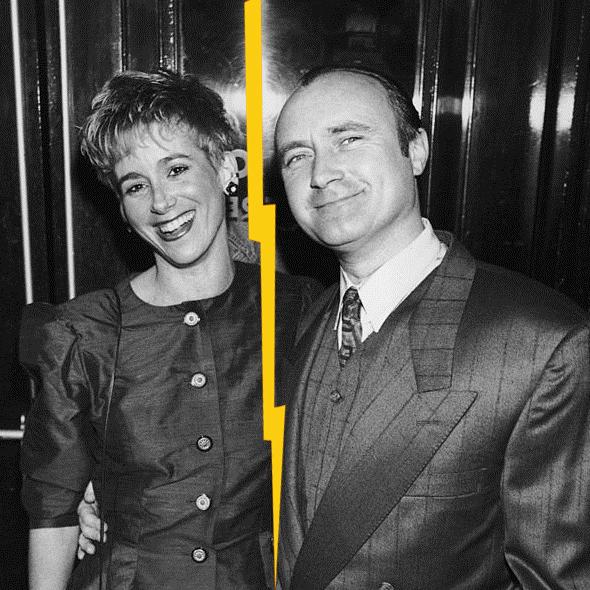 Jill Tavelman with Phil Collins
