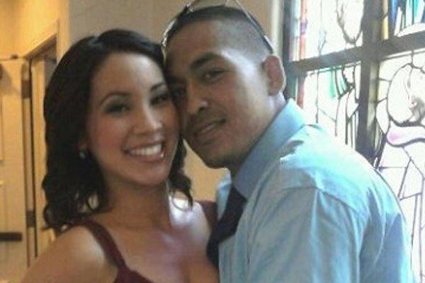 Venessa Villanueva with Chris Perez