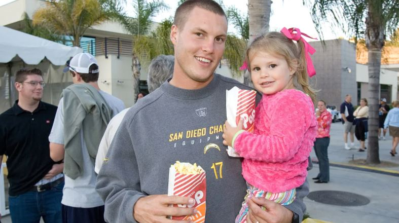 philip Rivers with Halle Rivers