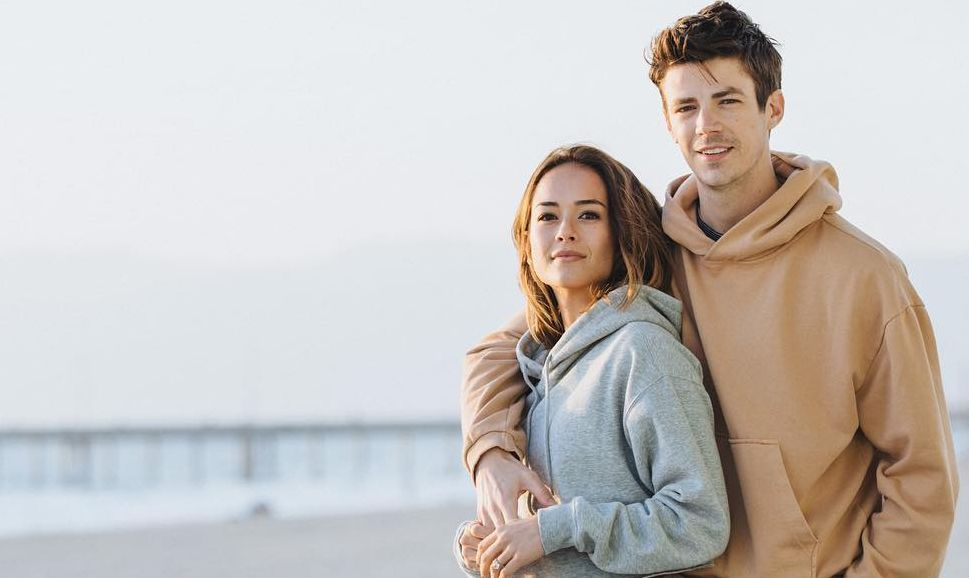 Grant Gustin with Andrea Thoma