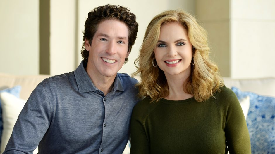 joel osteen with his wife