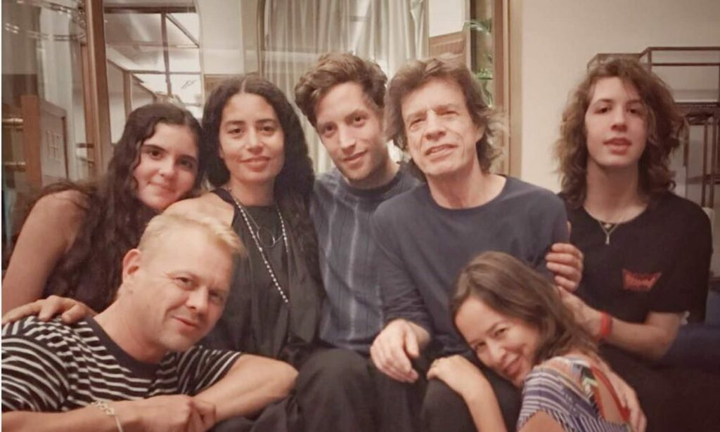 mick jagger with his family