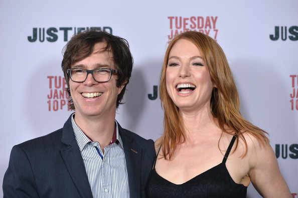 Alicia Witt with her husband