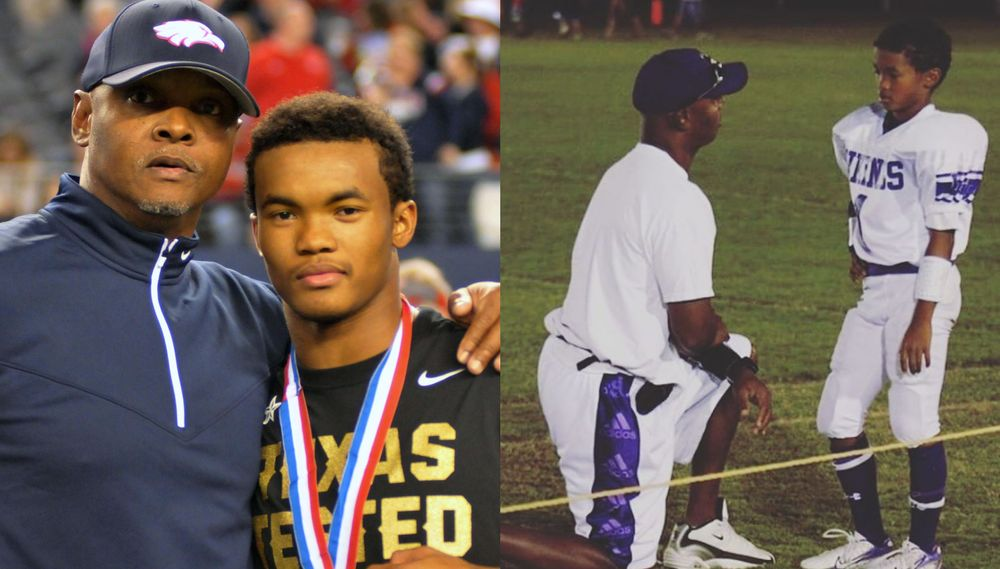 Kyler Murray with his dad Kevin