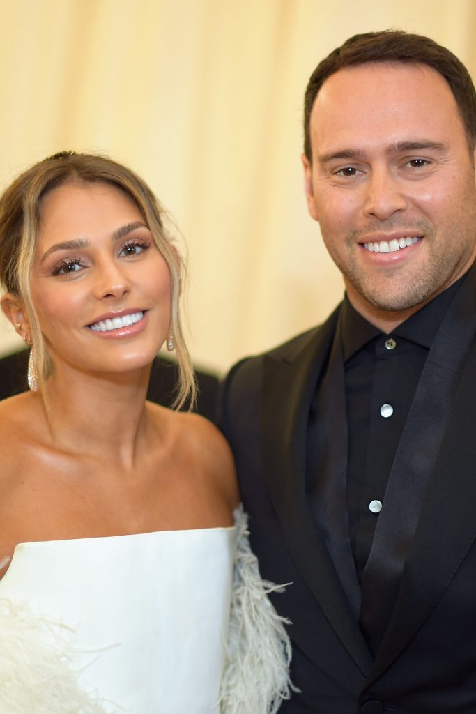 yael cohen with scooter braun